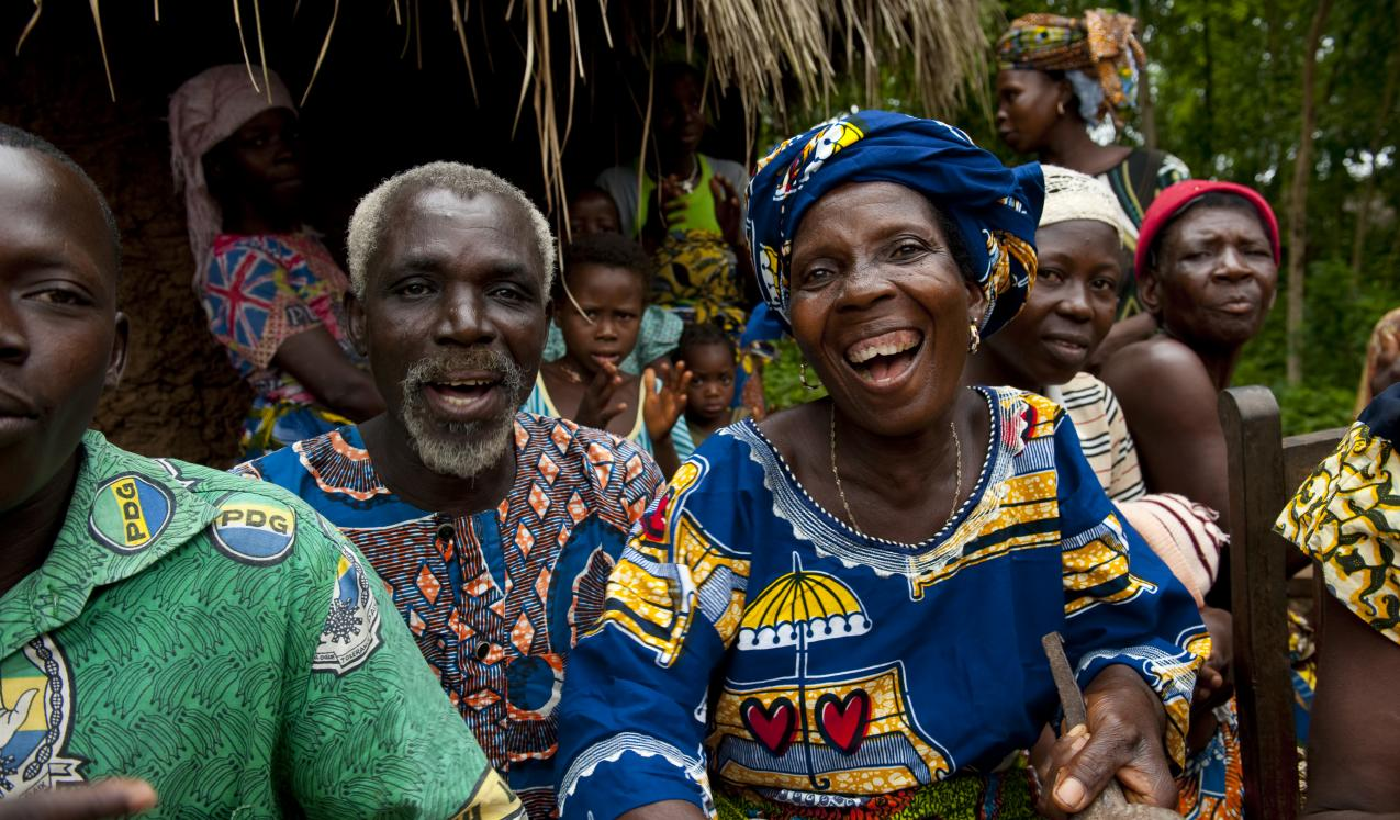 A gathering of villagers in Benin. © 2010 Arne Hoel/World Bank