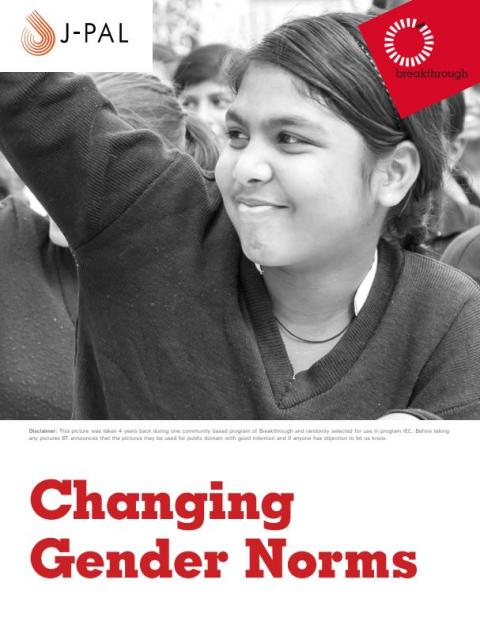 Changing gender norms report cover