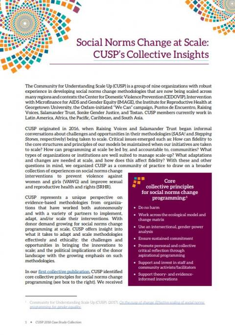 Social norms change at scale: CUSP's collective insights | Align