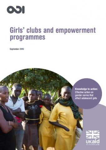 Photo of a group of girls - front cover of publication