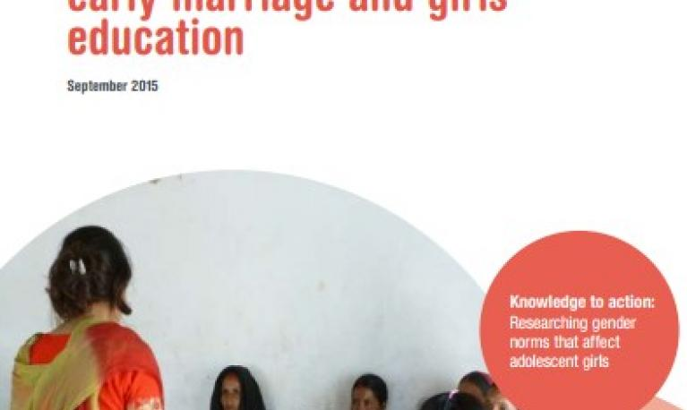 Girls in school - front cover of publication