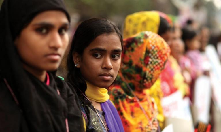 Women protest against child marriage in Dhaka, Bangladesh. © Pacific Press/Contributor