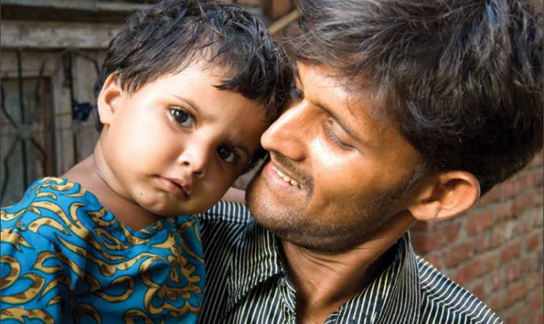 A father and son in India. @ICRW Asia