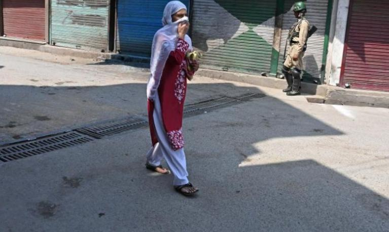 Many Internet articles extol Kashmiri women, and men, emphasising the fair colour of their skin. Credit: AFP