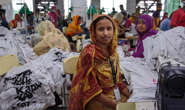 Women in a garment factory in India. Copyright: Women's eNews