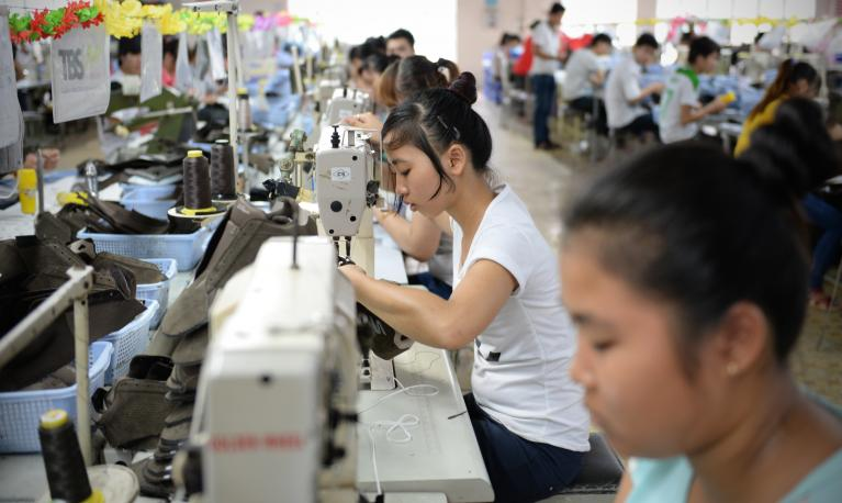 The female labour force participation rate is high in Vietnam, but inequalities informed by traditional social norms persist in workplaces between women and men. © Thang Tung / Institute for Studies of Society, Economy and Environment Vietnam