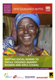 Front cover of the DFID report - woman smiling
