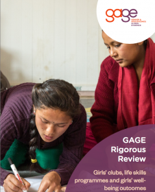 Front cover of girls' clubs review