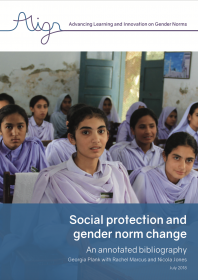 Social protection and gender norm change: An annotated bibliography