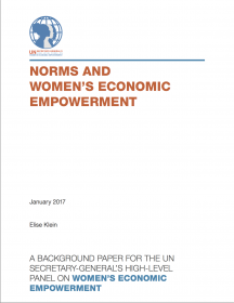 Norms and women's economic empowerment