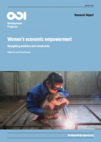 This report details how gender equality, poverty eradication and human development require increased investment in women's economic empowerment. The report suggests that no single intervention or actor can address all aspects needed to enable women's economic empowerment, but it highlights, amongst other factors, discriminatory gender and social norms as potential constrainers. In particular, discriminatory gender norms around what constitutes a suitable job for women and violence against women and girls co