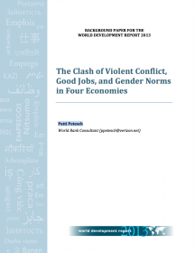 The Clash of Violent Conflict, Good Jobs, and Gender Norms in Four Economies