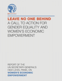 Leave no one behind: A call to action for gender equality and women's economic empowerment