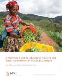 Cover of A Practical Guide to Measuring Women's and Girls' Empowerment in Impact Evaluations