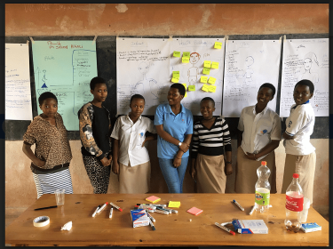 Schoolgirls in Musambira, Kamoyi, Rwanda provide crucial insights to entrepreneurs. Photo: Media Kagaba