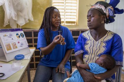 A mobile clinical outreach team from Marie Stopes International, a specialized sexual reproductive health and family planning organization in Senegal. © Jonathan Torgovnik