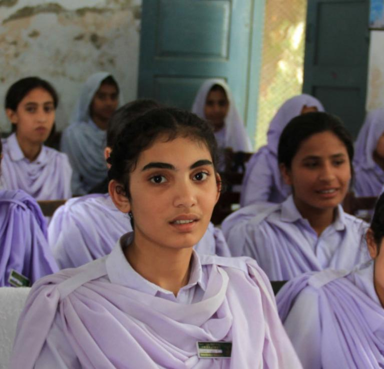 Girls in school in Khyber Pakhtunkhwa, Pakistan. © Vicki Francis/Department for International Development