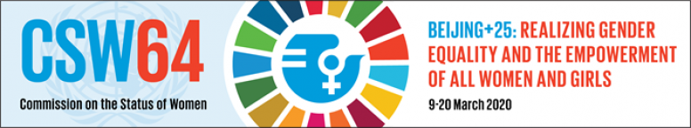 Banner from this year's Commission on the Status of Women meeting. © UN Women