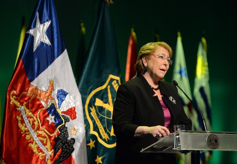 Verónica Michelle Bachelet Jeria, former President of Chile