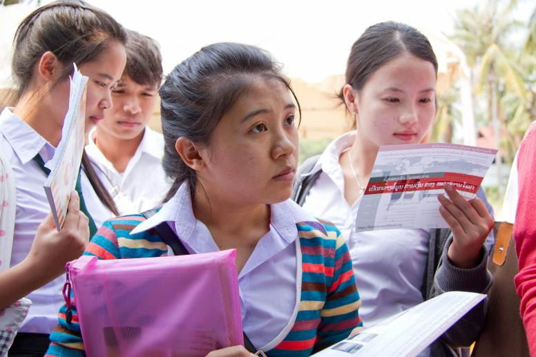 Female students from the University of Laos ©HUMA / World Bank