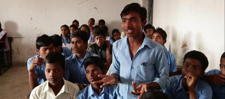 Young India men in a classroom. @ICRW Asia
