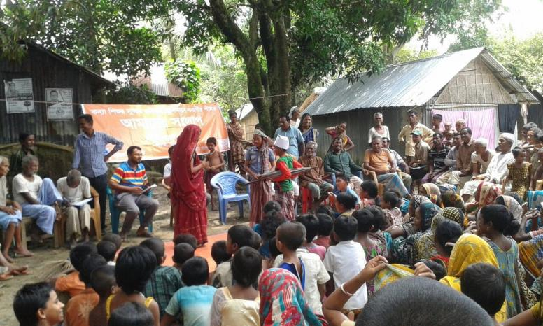 Group activities arranged as part of the Tipping Point project in Bangladesh